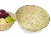 "13 1/2"" Bamboo Bowl/ Basket"