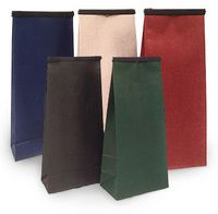 """1/2 Lb. Biodegradable Colored PLA Lined Tin Tie Bag (3 3/8""""x2 1/2""""x7 3/4"""")"""
