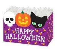Small Happy Halloween Theme Gift Basket Box