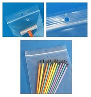 "2 Mil Top Seal Bag w/Hang Hole (3""x5"")"