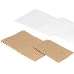 "White Kraft Flat Plain Paper Merchandise Bags (5""x2""x12"")"