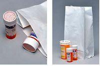 """White Pharmacy Tamper Evident Bags (6""""x3 1/2""""x11"""")"""