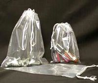 "1.5 Mil Polypropylene Double Drawstring Bags (4""x8"")"