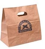 Blank Kwik-Print Die-Cut Take Out Bag