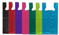 "High Density Colored T-Style Bags - 7""x5""x15"""