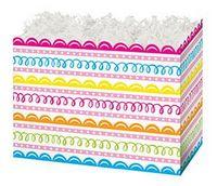 Small Sweet Swirls Theme Gift Basket Box