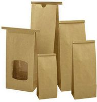 "1 Lb. Biodegradable PLA Lined Tin Tie Bag w/Window (4 3/4""x2 1/2""x9 1/2"")"