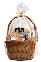 "Clear Gift Round Bottom Polypropylene Gift Basket Bag - 14""x24"""