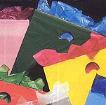 "Low Density Die-Cut Handle Plastic Bags - 1.25 Mil (9""x12"")"