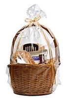 "Clear Gift Round Bottom Polypropylene Gift Basket Bag - 20""x30"""