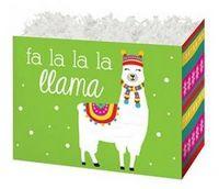 Small Fa La Llama Theme Gift Basket Box
