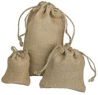 "Natural Burlap Drawstring Pouch (5""x6"")"