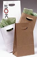 "Square Bottom Paper Bags w/Die Cut Handles (7 1/8""x3 1/4""x10 3/4"")"