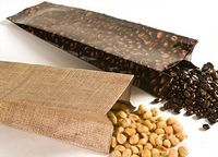 1 Lb. Heat Sealable Burlap/Bean Photo Laminated Foil Bag