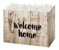 Small Rustic Welcome Home Theme Gift Basket Box