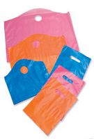 "Frost-Tinted Die Cut Handle Plastic Bags (9""x12"")"