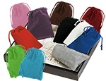 "Velour Drawstring Jewelry & Gift Pouches (2""x2 1/2"")"