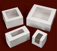 "Ohio Valley Windowed White Cupcake Box (10""x10""x2 1/2"")"