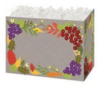 Small Fall Foliage Theme Gift Basket Box