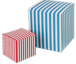 Custom Color Striped 1-Piece Paper Gift Box (2