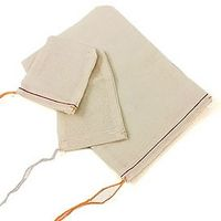 "Mill Cloth Drawstring Parts & Gift Bags (3""x4"")"
