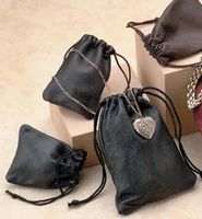 """Leatherette Drawstring Jewelry Pouches (5""""x7 1/2"""")"""