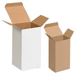 "Tumbler, Rock, & Wine Glass Brown Box - 3""x3""x10"""