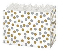 Small Metallic Dots Theme Gift Basket Box