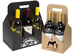 6 Bottle Black Kraft Wine Bottle Carrier