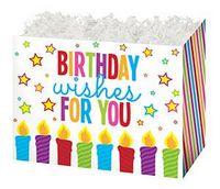 Small Birthday Wishes Theme Gift Basket Box