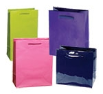 """Classic Laminated Euro Paper Tote Bags w/Rope Handles (6 1/2""""x3 1/2""""x6 1/2"""")"""