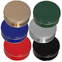 "Round Colored Cookie Tin (6 11/16""x1 13/16"")"