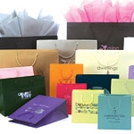 "Premier Laminated Euro Paper Totes Gift & Shopping Bag w/Rope Handles (10""x4""x8"")"