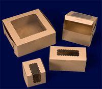 Ohio Valley Waterfall Windowed Kraft Cupcake Box (1 Cupcake Box)