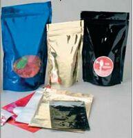 "Re-closable Premium 5 Mil. Oval Bottom Foil Bag w/Window (6 1/2""x10 1/2"")"