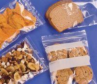"Clear Polyethylene Seal Top Pint Bag w/ White Block (6""x8"")"