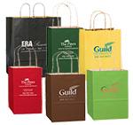 "Short Run Matte Colored Pinstripe Shopper Bag (5""x3 1/2""x8"")"