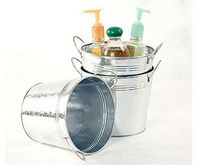 "6 1/2"" Galvanized Pail w/Side Handle"