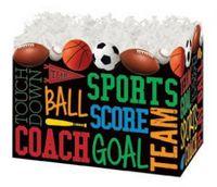Small Sports Fanatic Theme Gift Basket Box