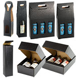Nero Matte Linen Italian Wine Bottle Tote Box w/Loop Handle