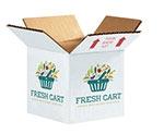 Custom Spotlight Brand Full Color Printed White RSC Box - 18