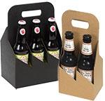 6 Pack Brown Kraft Beer Bottle Carrier