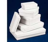 "White Jewelry Box w/Fiber Insert (3 1/16""x2 1/8""x5/8"")"