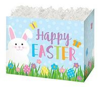 Small Happy Easter Theme Gift Basket Box
