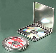 "Designer CD/DVD Round Tin (4 7/8""x11/16"")"