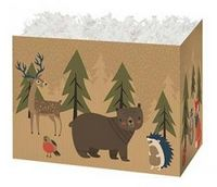 Small Woodland Forest Theme Gift Basket Box