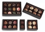 "Windowed Black Frosted 6 Piece Candy Box (2 3/4""x4 1/8""x1 3/8"")"