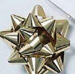 Custom Self Sticking Metallic Star Bow (2