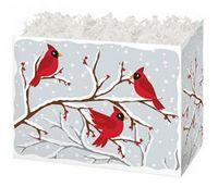 Small Winter Birds Theme Gift Basket Box