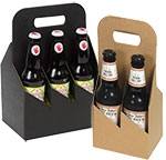 6 Bottle Black Kraft Beer Bottle Carrier